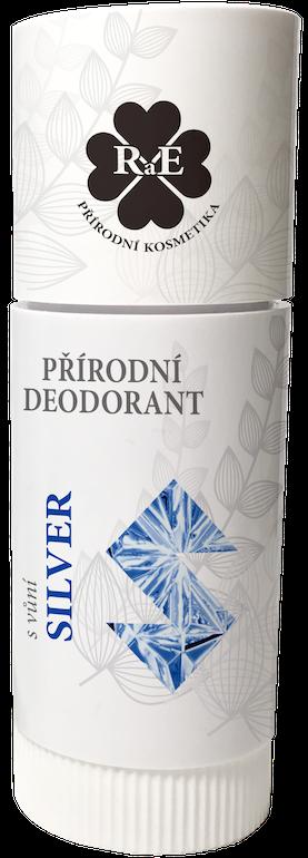Tuhý přírodní deodorant pro muže Silver RaE 25 ml