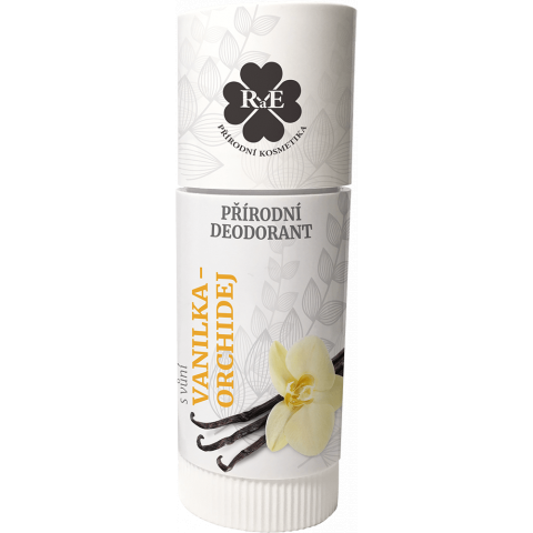 Tuhý přírodní deodorant Vanilka a Orchidej RaE 25ml