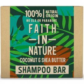 Tuhý šampon Kokos a bambucké máslo Faith in Nature 85g