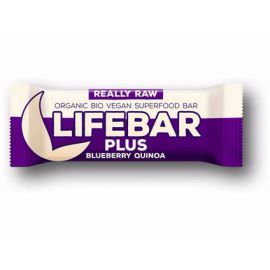 Tyčinka borůvka quinoa Bio Lifebar Plus 47g