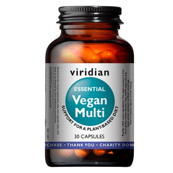 Viridian Vegan Multi (Multivitamin pro vegany) 30 kapslí