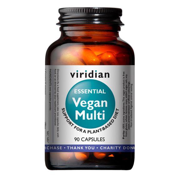 Viridian Vegan Multi (Multivitamín pro vegany) 90 kapslí