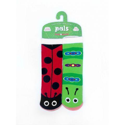 Veselé protiskluzové ponožky Beruška a Housenka Pals Socks