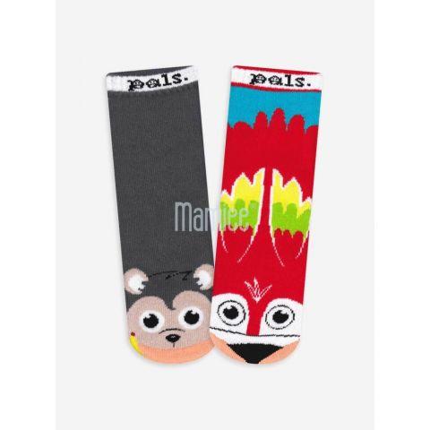 Veselé protiskluzové ponožky Opice a papoušek Pals Socks