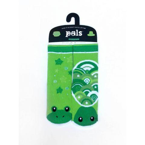 Veselé protiskluzové ponožky Žába a želva - umělecká série Pals Socks