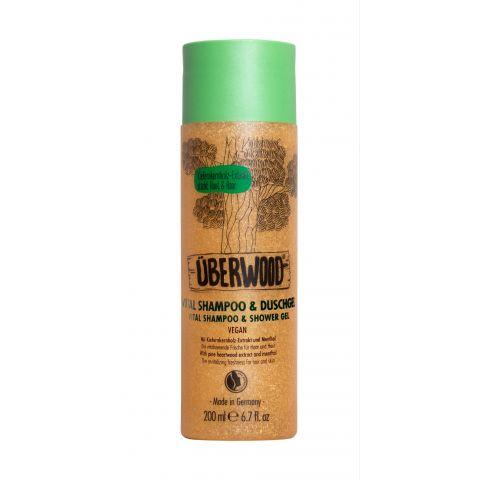 Vital šampon a sprchový gel 2v1 VEG - pro svěžest vlasů i těla ÜBERWOOD 200 ml