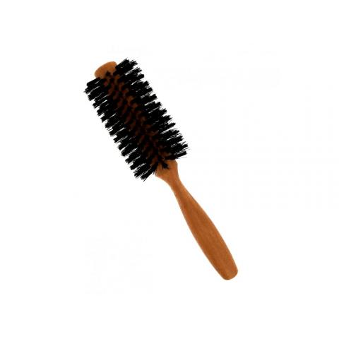 Vlasový kartáč z hruškového dřeva - s kančími štětinami - půlkulatý, prům. 5 cm Förster´s