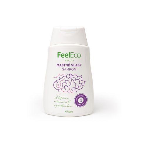 Vlasový šampon na mastné vlasy Feel eco 300 ml