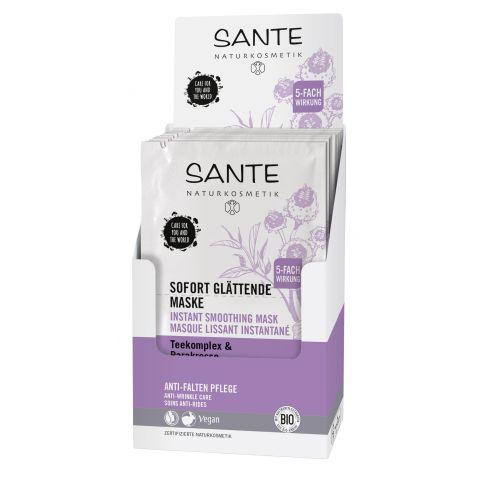 Vyhlazující pleťová maska Bio Čaj & Plamatka Sante 2 x 4ml