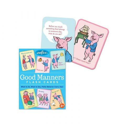 Výukové karty - Dobré způsoby Eeboo