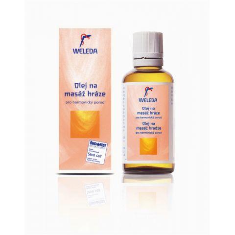 Olej na masáž hráze 50ml Weleda