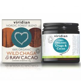 Wild Chaga & Raw Cacao Organic 30g Viridian
