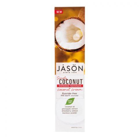 Zubní pasta simply coconut bělicí Jason 119 ml